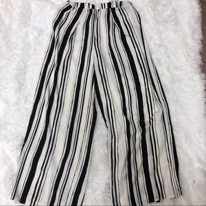Forever 21 Wide Leg Striped Pants
